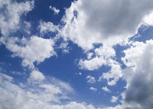 Bewolkte hemel Stock Foto's