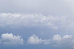 Bewolkte hemel Achtergrond Royalty-vrije Stock Afbeeldingen
