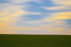Bewolkte HEMEL IN het PLATTELAND Royalty-vrije Stock Afbeelding