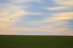 Bewolkte HEMEL IN het PLATTELAND Royalty-vrije Stock Foto's