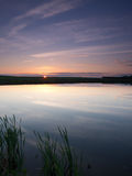 Bewolkte hemel in het water Royalty-vrije Stock Fotografie