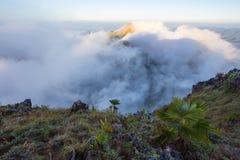 Bewolkte hemel over de bergen, (Doi Luang Chiang Dao, Chiang Mai, Thailand) Royalty-vrije Stock Foto