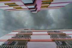 bewolkte hemel over flat Royalty-vrije Stock Foto's