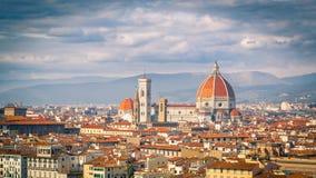 Bewolkte hemel over Florence, Tuskany, Italië Stock Foto's
