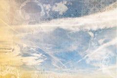 Bewolkte hemelachtergrond, samenvatting Royalty-vrije Stock Afbeelding