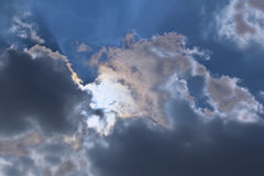 Bewolkte hemelhemel Royalty-vrije Stock Afbeeldingen
