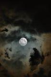 Bewolkte Maan Royalty-vrije Stock Afbeeldingen