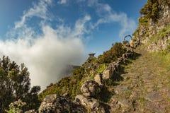 Bewolkte Moutains van Gr Hierro Mirador DE Jinama royalty-vrije stock fotografie