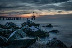 Bewolkte ochtend in Burgas Royalty-vrije Stock Foto's