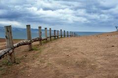 Bewolkte ochtend op het Olkhon-eiland Royalty-vrije Stock Afbeelding