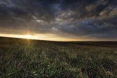Bewolkte Ochtend op Openlucht Stock Fotografie