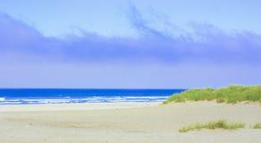 Bewolkte strandhemel Stock Fotografie