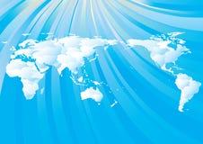 Bewolkte wereldkaart Stock Foto's