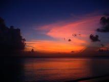Bewolkte Zonsondergang Royalty-vrije Stock Foto's
