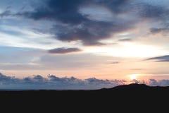 Bewolkte Zonsondergang Royalty-vrije Stock Foto