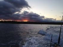 Bewolkte Zonsopgang Hawaï Royalty-vrije Stock Foto's