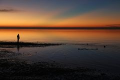 Bewundern des Ostkap-Sonnenaufgangs Lizenzfreie Stockfotos
