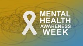Bewusstsein der psychischen Gesundheit eine j?hrliche Kampagne, die Bewusstsein von psychischer Gesundheit hervorhebt stock abbildung
