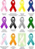 Bewusstseins-Farbbänder - 12 einzeln schattiert Stockbilder