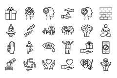 Bewuste het leven geplaatste pictogrammen Royalty-vrije Stock Afbeelding
