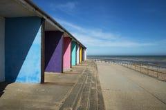 Bexhill plaży budy Zdjęcia Stock