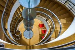 BEXHILL-ON-SEA,东部SUSSEX/UK - 1月11日:在D的楼梯 免版税库存照片