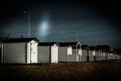 BEXHILL-ON-SEA, ВОСТОЧНОЕ SUSSEX/UK - 11-ОЕ ЯНВАРЯ: Хаты пляжа в Bexh Стоковая Фотография