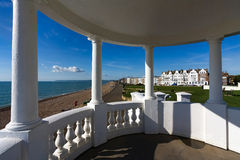 BEXHILL-ON-SEA, EAST SUSSEX/UK - OCTOBER 17 : Colonnades in grou Royalty Free Stock Photo