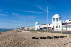 BEXHILL-ON-SEA, EAST SUSSEX/UK - OCTOBER 17 : Seafront and  colo Stock Photography
