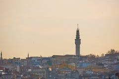 Beyazit wierza lub Seraskier Basztowy historyczny punkt zwrotny w Istanbuł, Turcja Fotografia Royalty Free