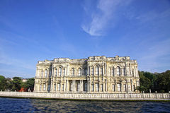 Beylerbeyi Palace on the bank of Bosphorus strait in Istanbul Royalty Free Stock Image