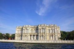 Beylerbeyi Palace on the bank of Bosphorus strait in Istanbul Royalty Free Stock Image
