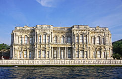 Beylerbeyi Palace on the bank of Bosphorus strait in Istanbul Royalty Free Stock Photography