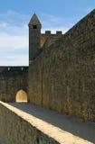 beynac城堡中世纪大别墅的dordogne 免版税库存照片