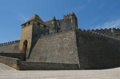 beynac城堡中世纪大别墅的dordogne 库存图片