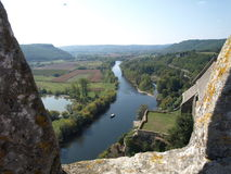 Beynac battlement view Royalty Free Stock Images