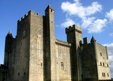 Beynac Castle And Blue Sky Stock Photo