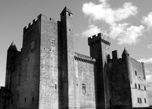 Beynac Castle Black and White Royalty Free Stock Image