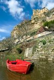 Beynac with the castle on the cliff Royalty Free Stock Photography