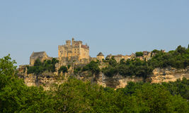 Beynac-et-Cazenac old castle and city Royalty Free Stock Photography