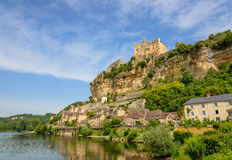 Beynac-et-Cazenac old city on a cliff, Dordogne Stock Image