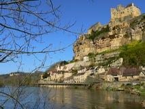 Beynac-och-Cazenac Frankrike Fotografering för Bildbyråer
