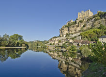 Beynac Panorama Royalty Free Stock Images
