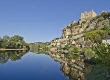 beynac panorama Obrazy Royalty Free