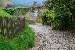 Beynac Pathway Royalty Free Stock Images
