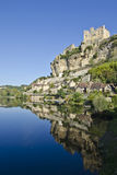 Beynac Riverscape Royalty-vrije Stock Foto