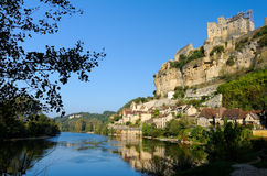 Beynac Riverscape Fotografia Stock