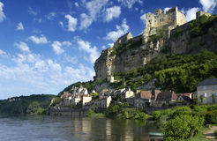 Beynac Schloss - Dordogne - Frankreich Lizenzfreies Stockbild
