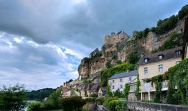 Beynac und Cazenac, ein Dorf im Périgord Noir stockfoto