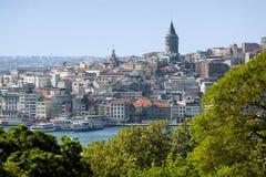 beyoglu地区galata伊斯坦布尔塔 免版税库存图片